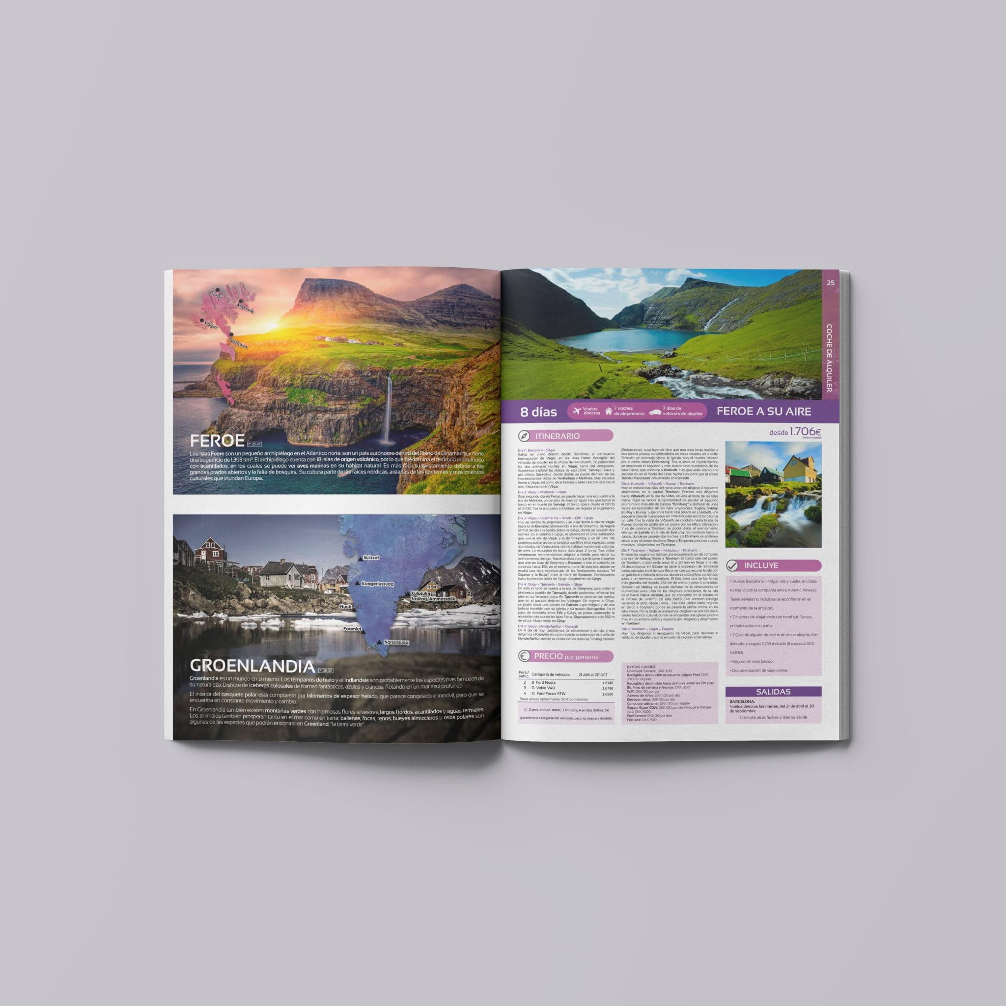 Páginas de Feroe y Groenlandia Catálogo