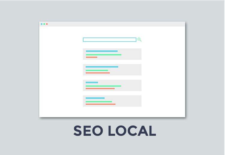 ilustración de resultados de búsqueda seo local