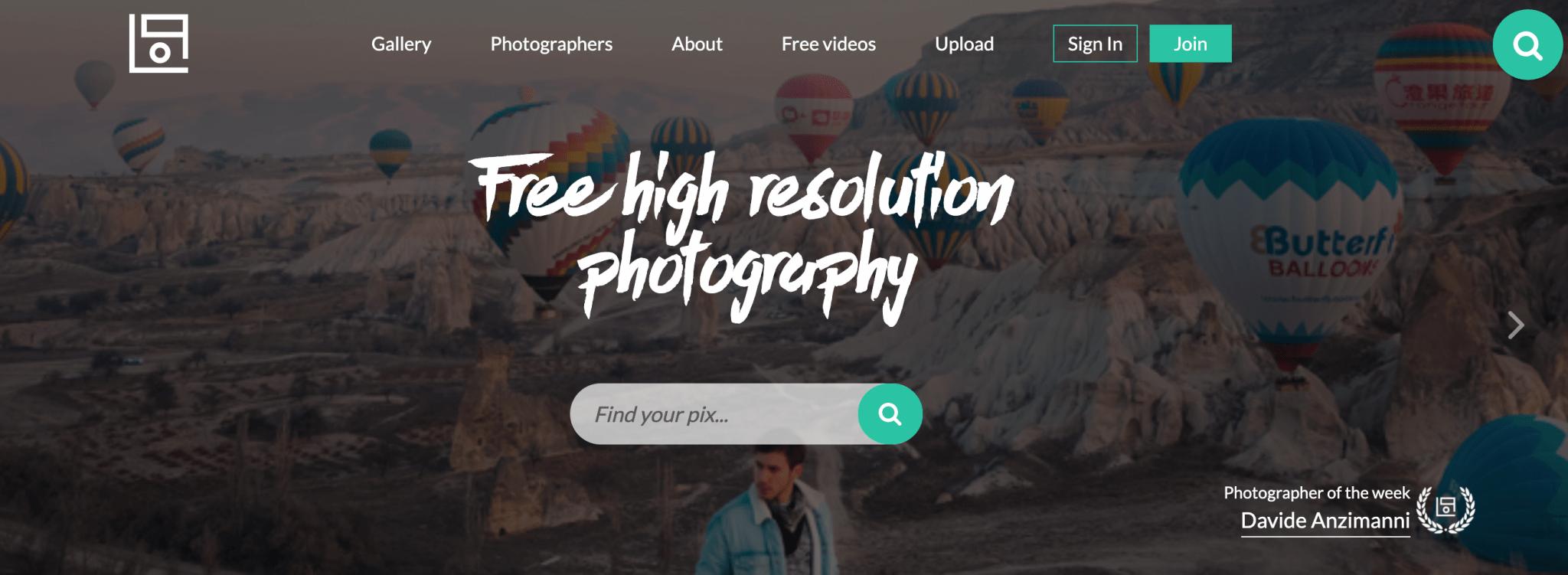 Captura de la web de imágenes gratis Life of Pix