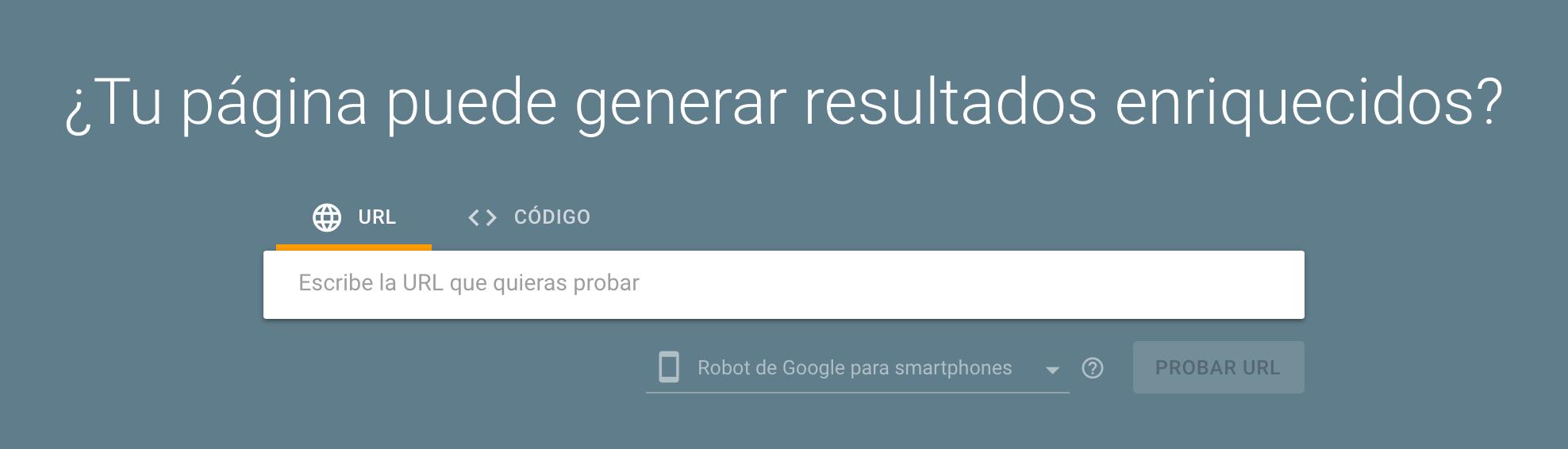 herramienta seo de google rich results test para comprobar los resultados enriquecidos